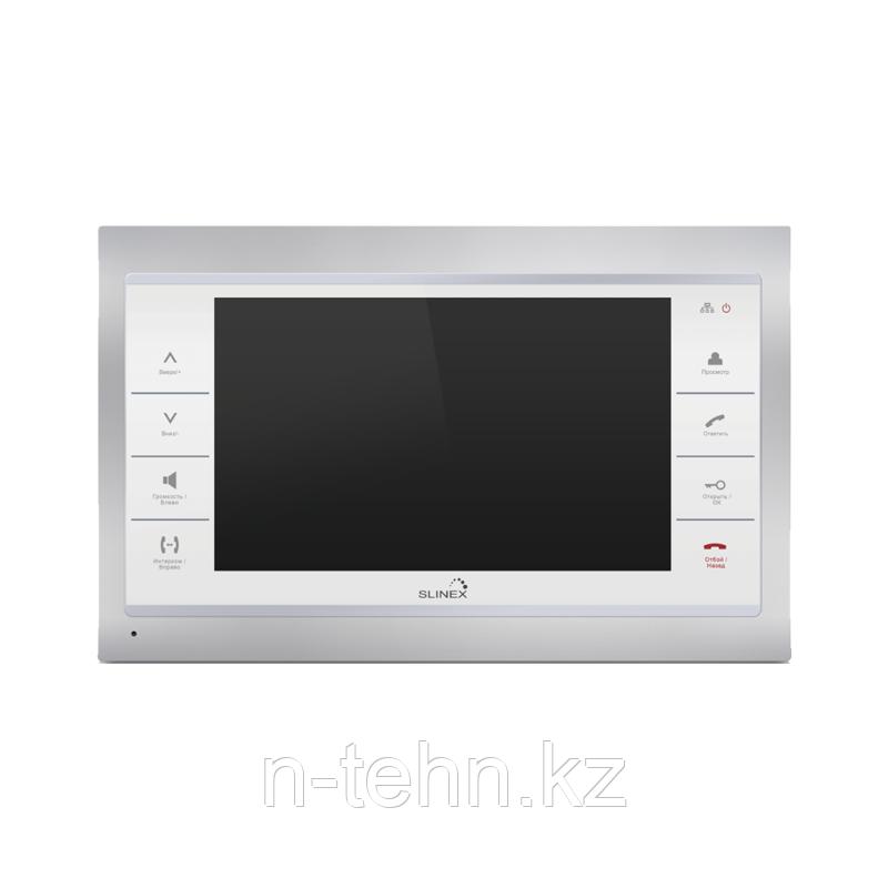 """Slinex SL-10IPT цвет черный + серебро. 10"""" Домофон с сенсорным экраном и переадресацией на смартфон"""