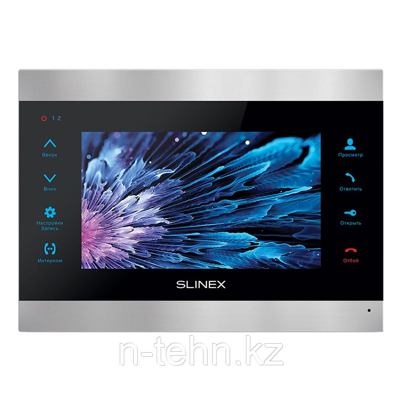 """Slinex SL-07M цвет черный + серебро. 7"""" Домофон с ультратонким корпусом и функцией памяти"""