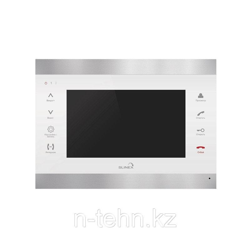 """Slinex SL-07M цвет серебро + белый. 7"""" Домофон с ультратонким корпусом и функцией памяти"""