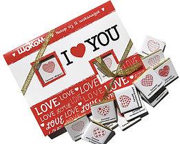 "Шоколадный набор ""I Love you"" 12 шоколадок. 60гр (Размер коробочки 130х173х10 мм)"
