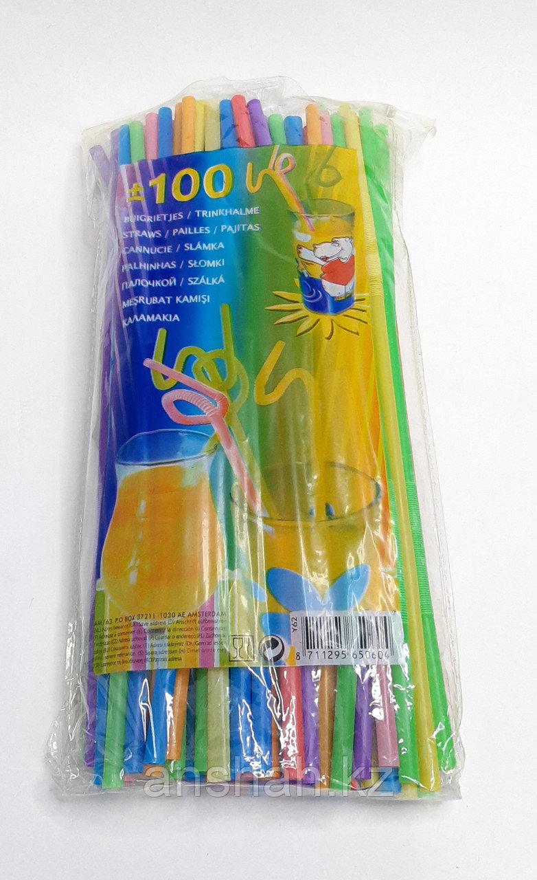 Трубочка для холодных напитков 100 шт. гофра Оригинал