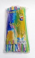 Трубочка для холодных напитков 100 шт. гофра, фото 1