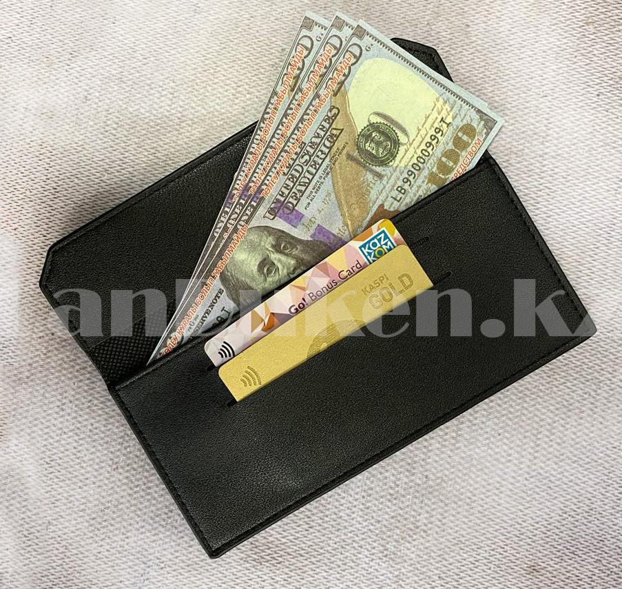 Мужской подарочный набор портмоне ремень туалетная вода Suawage Бокс подарочный для мужчины (черный) - фото 8