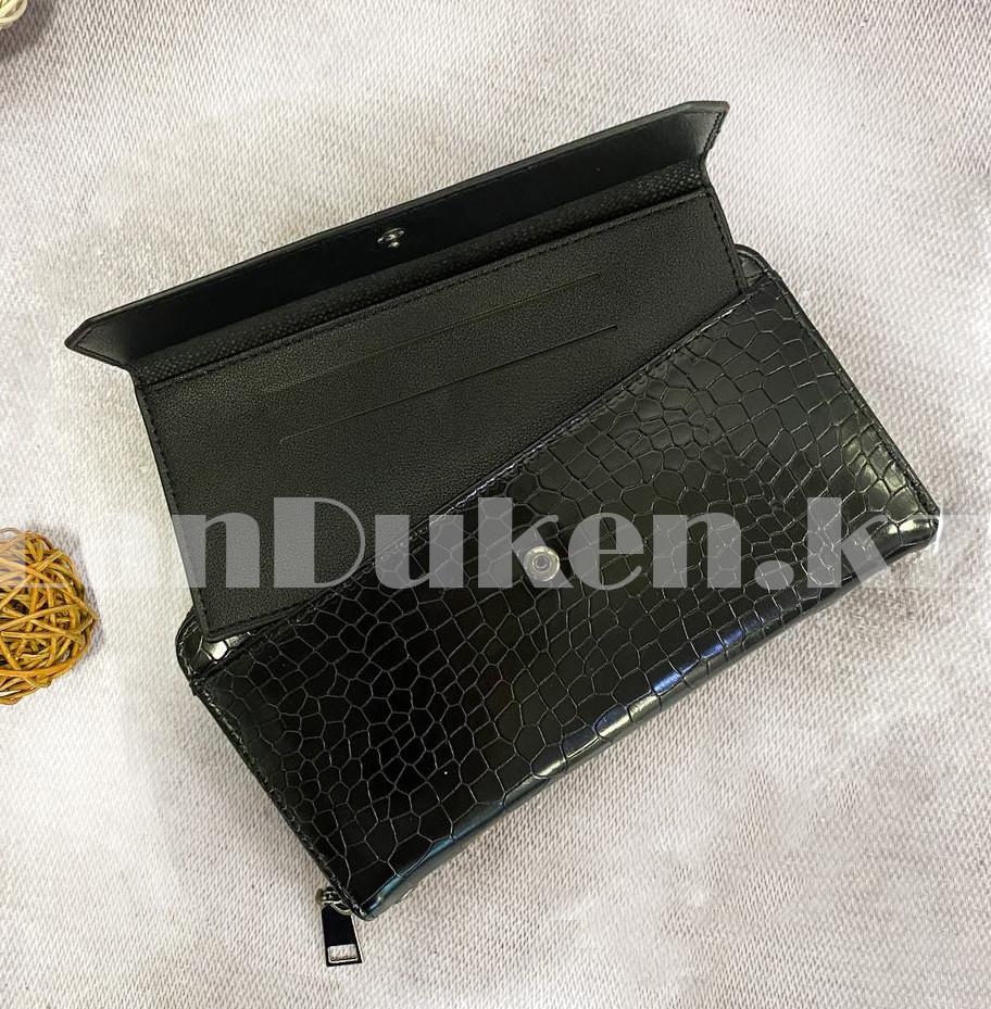 Мужской подарочный набор портмоне ремень туалетная вода Suawage Бокс подарочный для мужчины (черный) - фото 4
