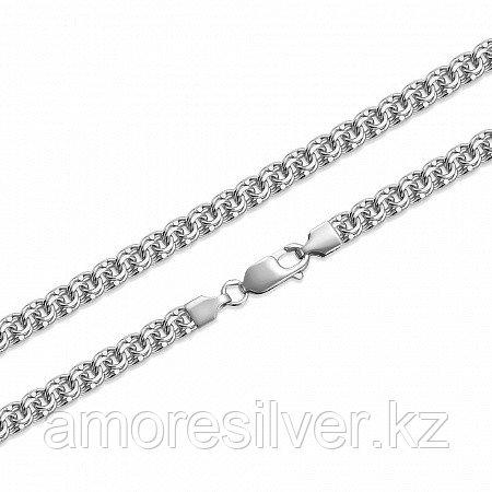 Цепь Вознесенский ЮЗ серебро с родием, без вставок, бисмарк ручной БГр-70-65 размеры - 65