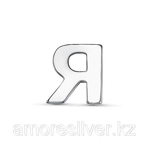 Подвеска TEOSA серебро с родием, без вставок, буква 3000-3057