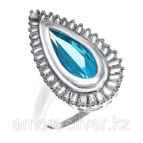 """Кольцо TEOSA серебро с родием, фианит, """"halo"""" 10219-0026-EML"""