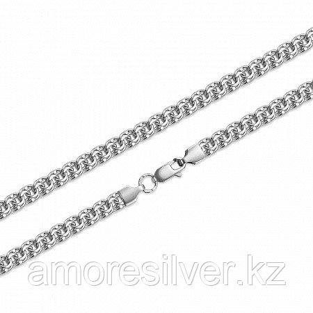 Цепь Вознесенский ЮЗ серебро с родием, без вставок, бисмарк ручной БГр-60-65 размеры - 65