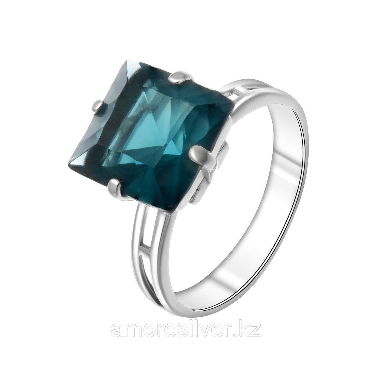 Кольцо Алмаз-Групп серебро с родием, кварц, многокаменка 11390025