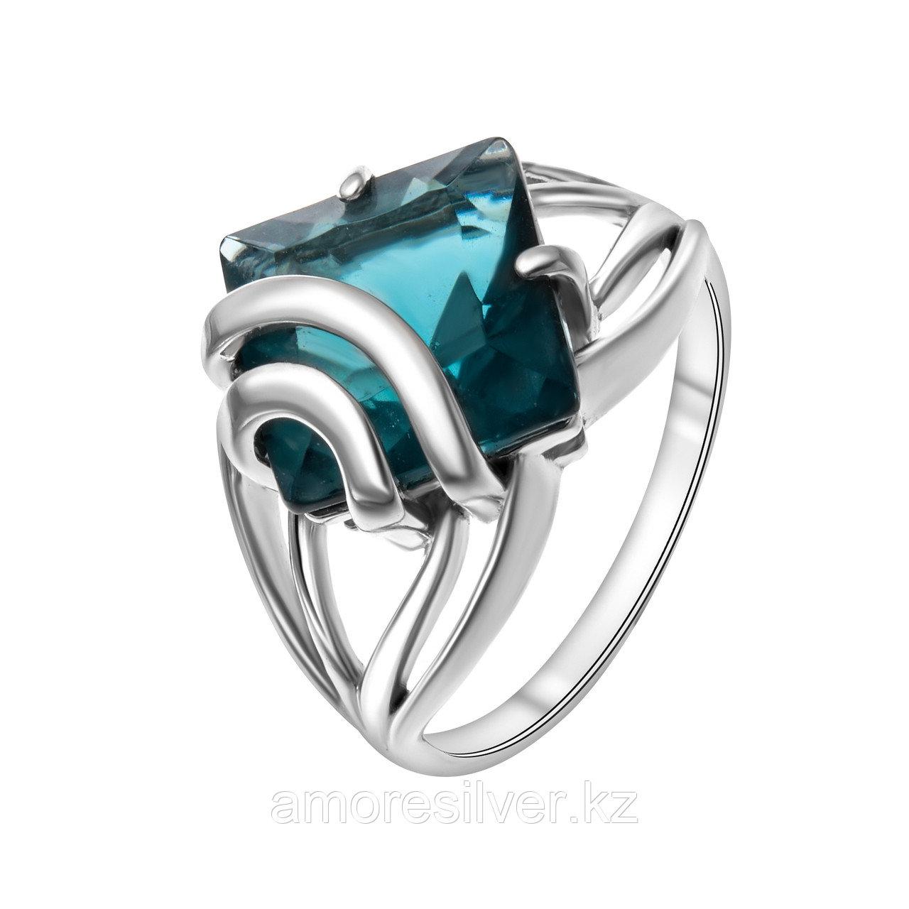 "Кольцо Алмаз-Групп серебро с родием, кварц пл. топаз лондон, ""каратник"" 11390032"