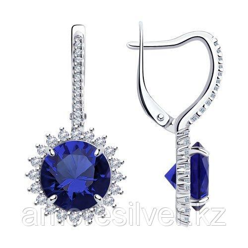Серьги Diamant (SOKOLOV) серебро с родием, фианит  94-120-00805-1