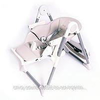 Стульчик для кормления Ivolia Q6 с колесами Beige (бежевый), фото 4