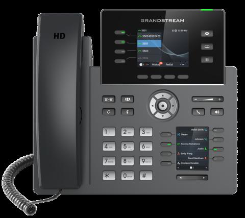 Grandstream GRP2614 IP телефон 4 SIP, 4 линии, цветной LCD, PoE, 1GbE, 8 BLF, Wi-Fi, Bluetooth