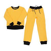 Спортивный костюм детский, желтый (122 см)