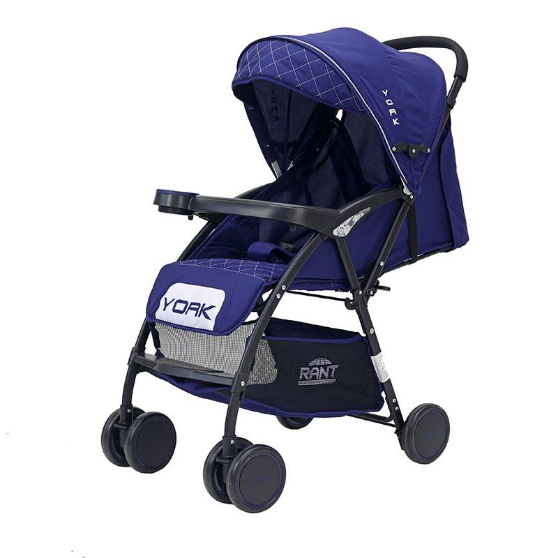 Детская прогулочная Коляска Rant York. Цвет синий