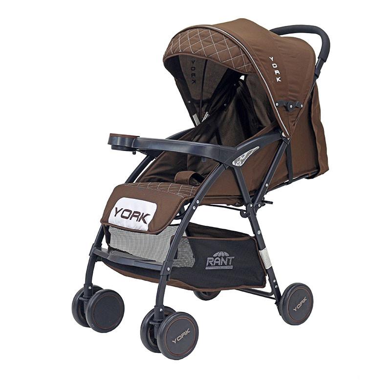 Детская прогулочная Коляска Rant York. Цвет коричневый