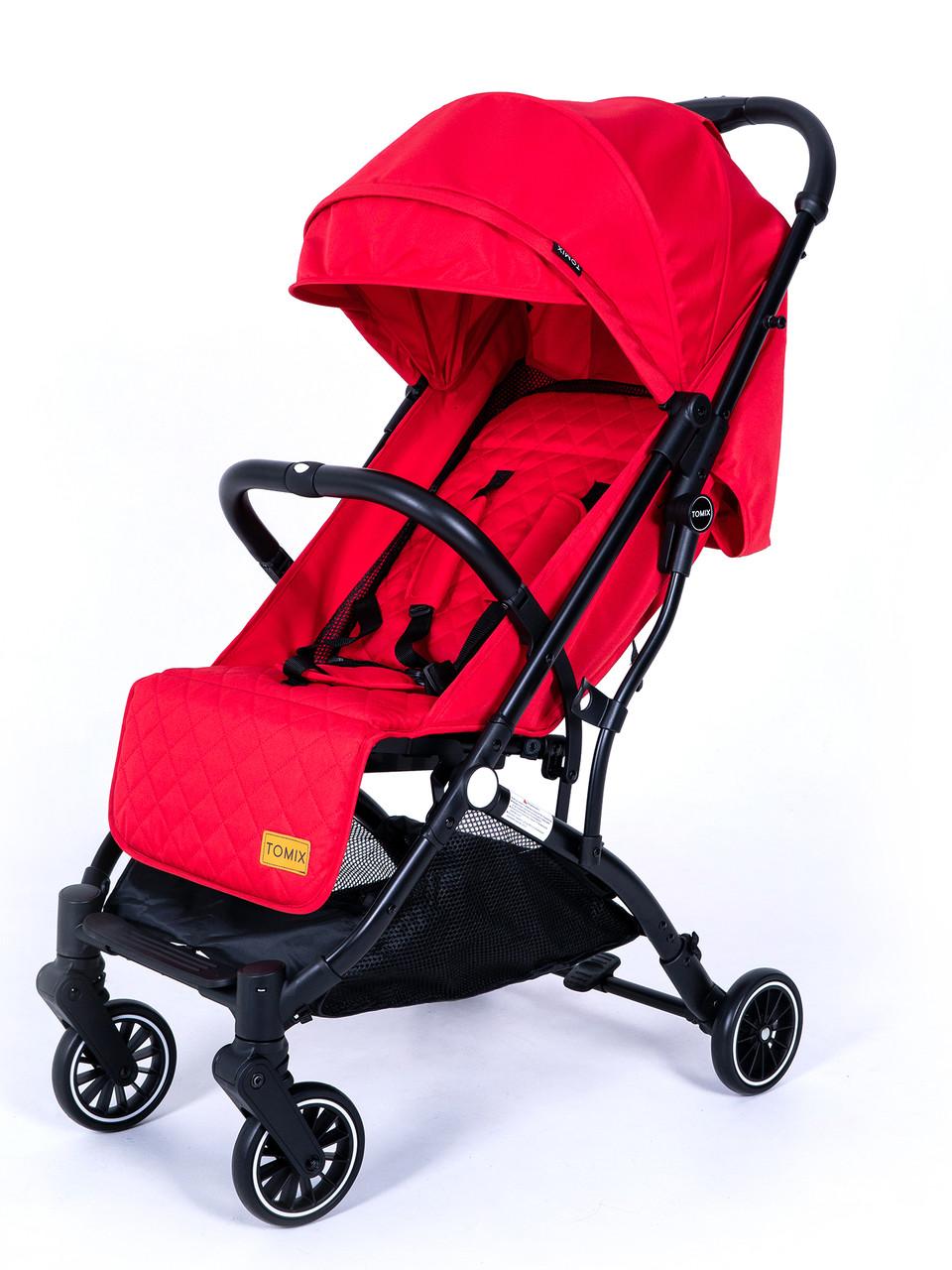 Детская прогулочная Коляска Tomix Luna Цвет красный, трансформируется в чемоданчик