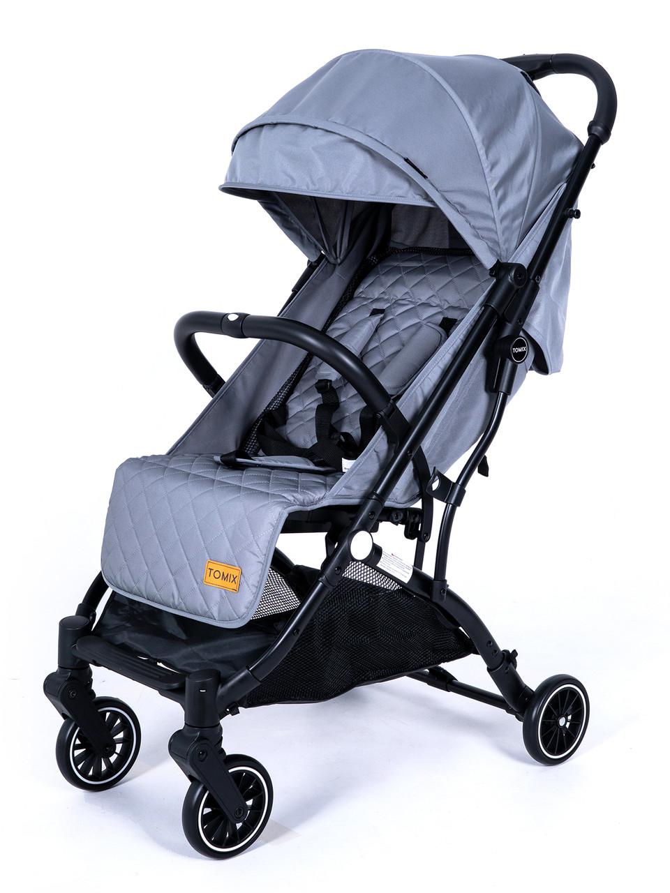 Детская прогулочная Коляска Tomix Luna Цвет серый, трансформируется в чемоданчик