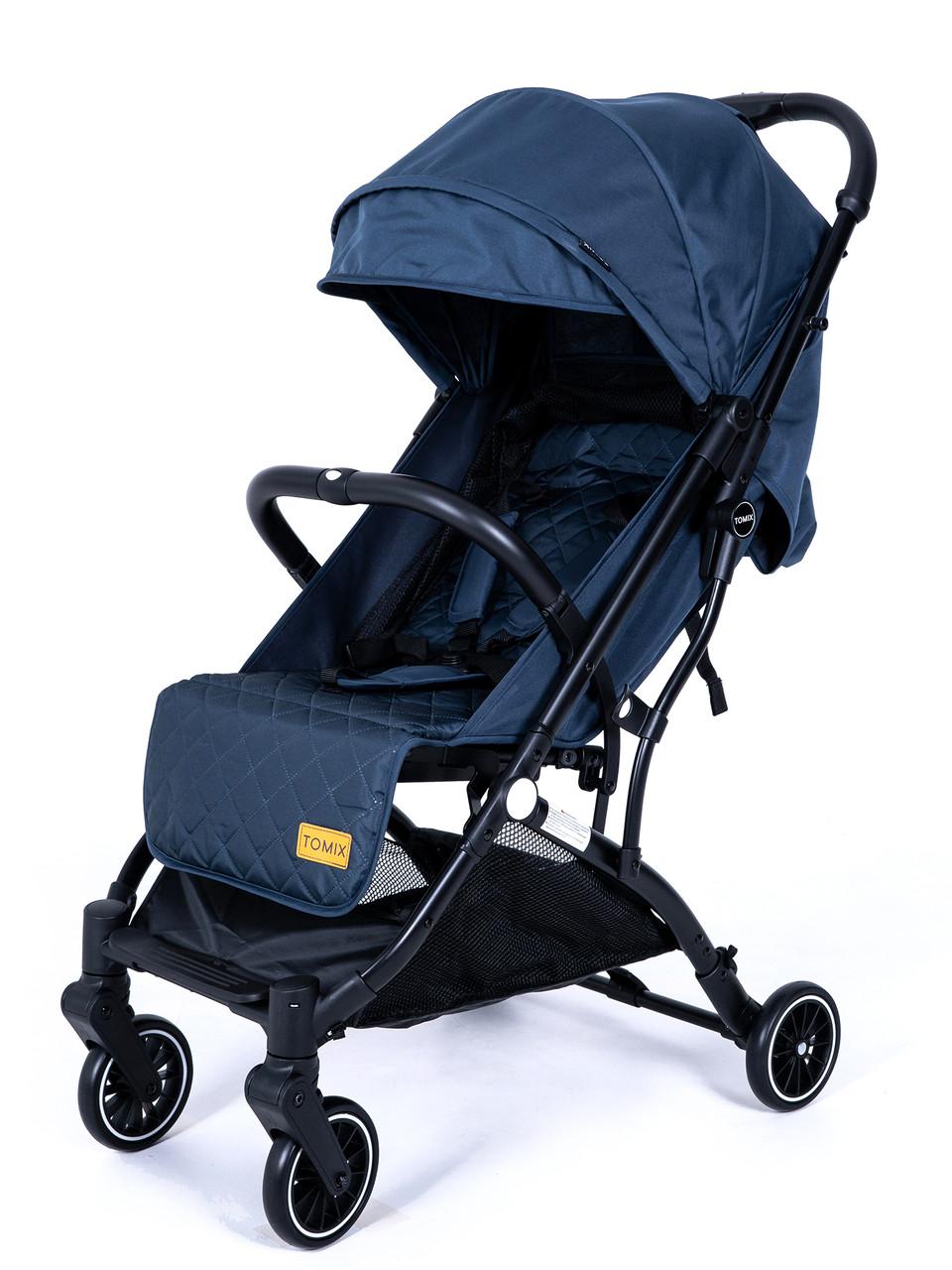 Детская прогулочная Коляска Tomix Luna Цвет синий, трансформируется в чемоданчик