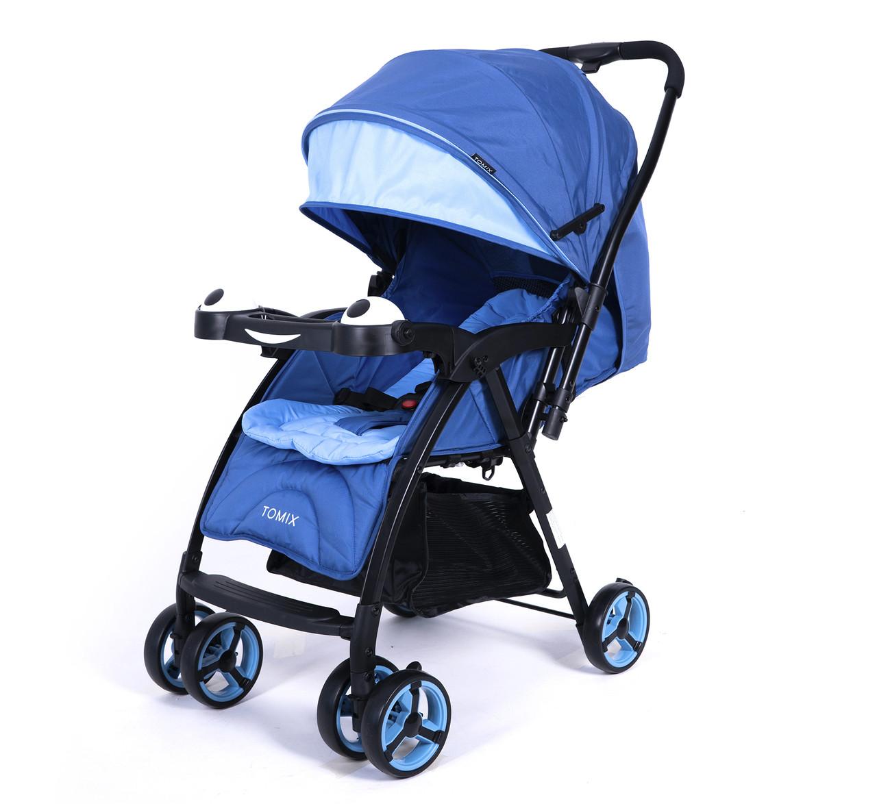 Детская прогулочная Коляска Tomix Cosy. Цвет синий, от 6 мес.