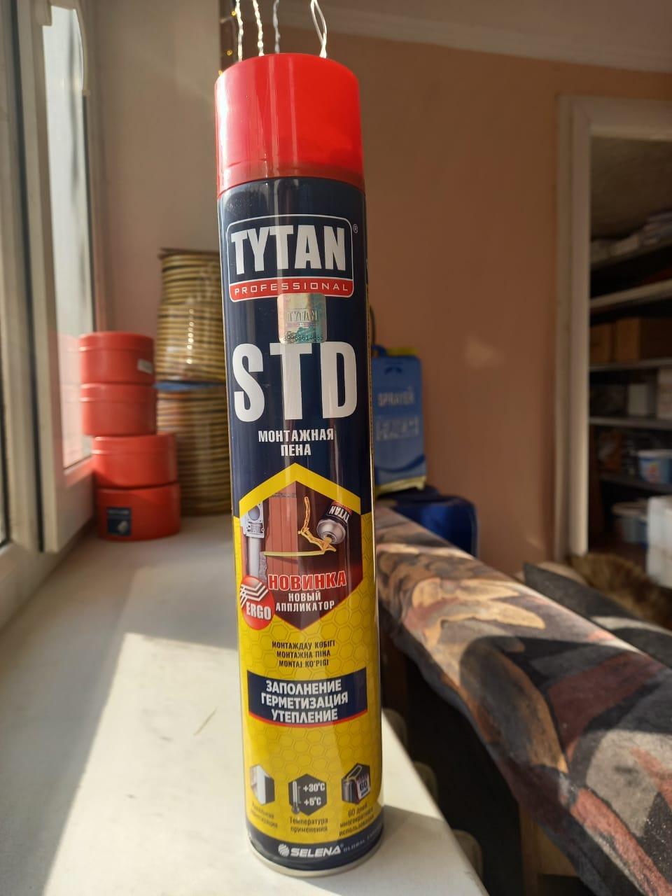 Пена монтажная STD О2 750мл/ TYTAN