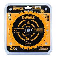 DeWalt, DT10302, Пильный диск по дереву EXTREME для ручных дисковых пил 184/16 1.65 24 WZ +18°