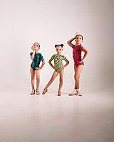 Боди для танцев коллекция Animal Зелёный, Лайкра, Короткий рукав