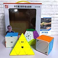 Набор скоростных головоломок QiYi MoFangGe Non-Cubic Gift Box Мегаминкс-Пирамидка-Иви-Скьюб
