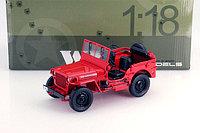 1/18 Signature Коллекционная модель Gate Jeep Willys, красный