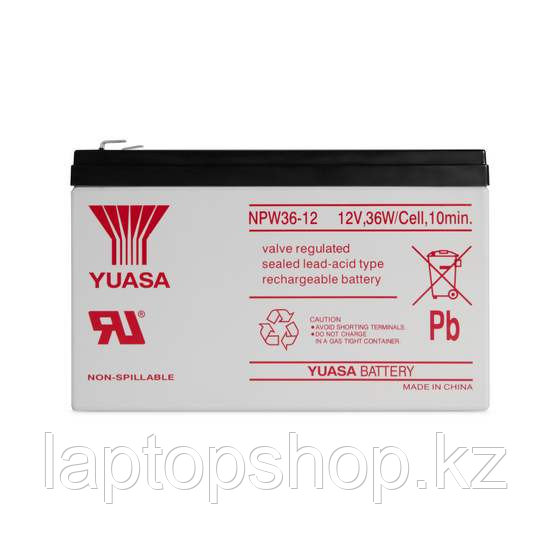 Батарея Yuasa NPW 36-12, Свинцово-кислотная 12В 7.5 Ач, Размер в мм.: 151*65*94