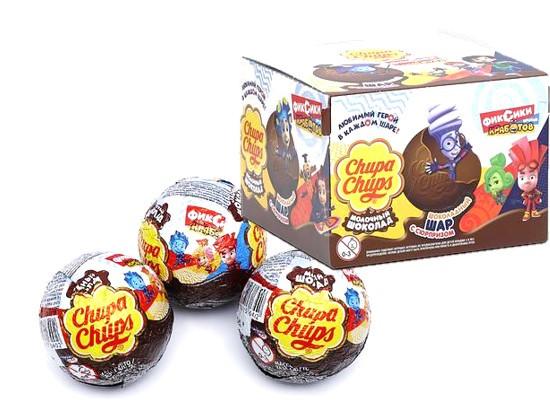 Шоколадный шар, Сhupa-Сhups фиксики 20г /18шт-упак/