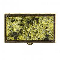 Таблетница из змеевика с делителем на 2 отсека цвет золото