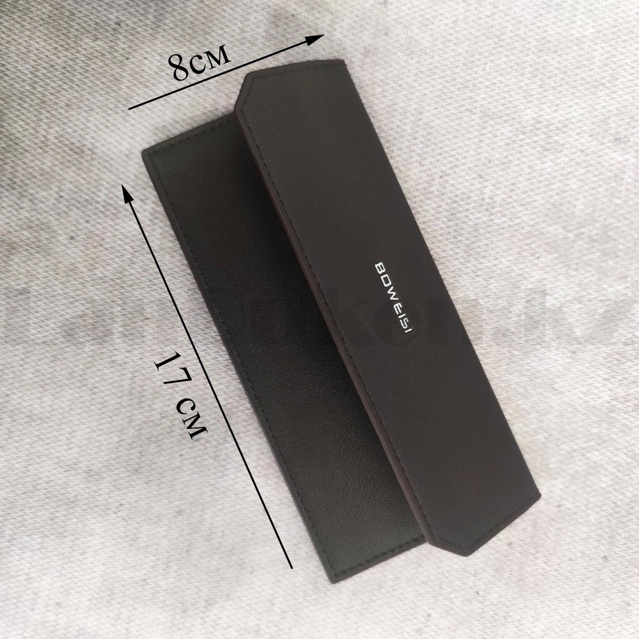Портмоне со съемной визитницей кошелек кожаный темно-коричневый 341 - фото 3