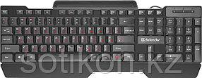 Клавиатура проводная Defender Search HB-790 RU,черный