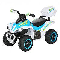 Толокар Pituso Квадроцикл с багажником Белый-голубой