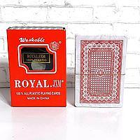 Карты 100% пластик игральные Royal Classic 54 шт 25 мкм