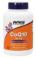 Now Foods, Коэнзим Q10, 60 мг, 180 вегетарианских капсул