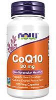 Now Foods, коэнзим Q10, 30 мг, 120 растительных капсул