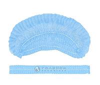 Шапочка шарлотка одноразовая нестерильная голубая (50 шт.) №45990
