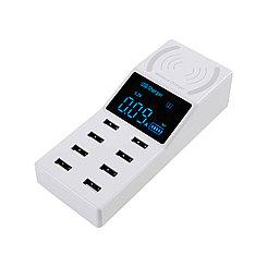 Сетевое зарядное устройство + беспроводное зарядное устройство UC-CDA31 8XUSB 8A/40W, White