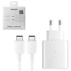 Сетевое зарядное устройство + кабель USB Type-C Samsung 5V-3A 9V-2.77A 25W, White