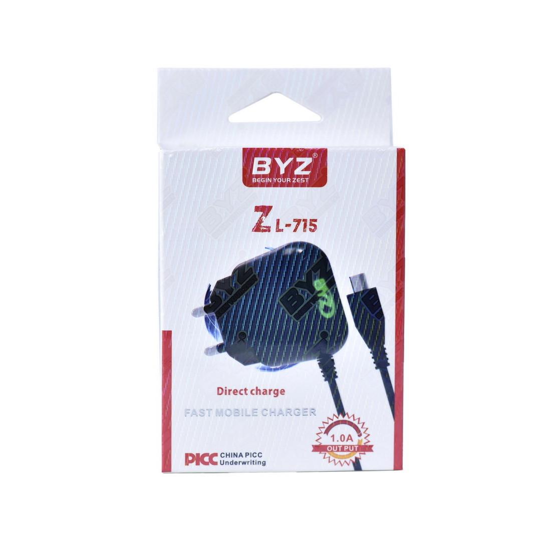 Сетевое зарядное устройство BYZ Zl-715 5V-1A micro Usb Black BOX