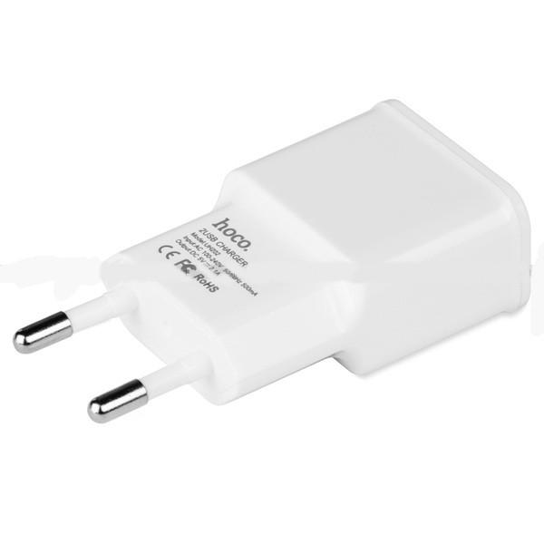 Сетевое зарядное устройство Hoco C11 1XUSB 1A White