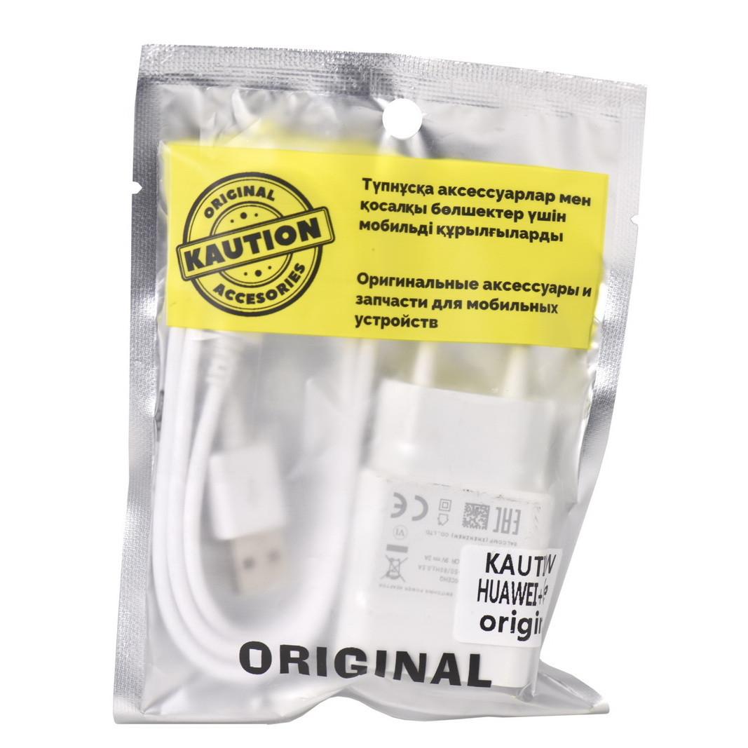 Сетевое зарядное устройство Huawei Caution Alfa 5V-2A/9V-2A 1USB c кабелем micro Usb White