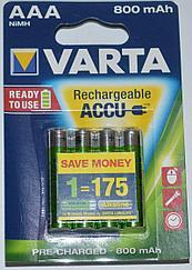 Аккумулятор Varta AAA 56703, 4X800mAh, штучно