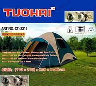 Палатка трехместная люкс TUOHAI 2316 размер {110 + 210} х 210 х h165