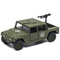 Игрушка Welly военный автомобиль с пулемётом 99198