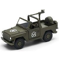 Игрушка Welly военный автомобиль с пулемётом 99199