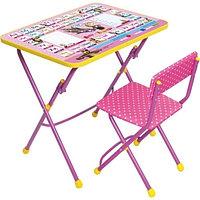НИКА НИКА Набор мебели МАША И МЕДВЕДЬ (стол +мягкий моющийся стул) Азбука3 -