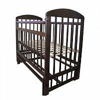 МОЙ МАЛЫШ **МОЙ МАЛЫШ Кровать детская 09 маятник поперечного качания с накладкой венге -